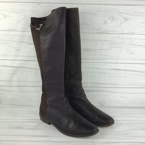 "Coach ""Lilac"" Brown Knee High Boot Size 8.5B"
